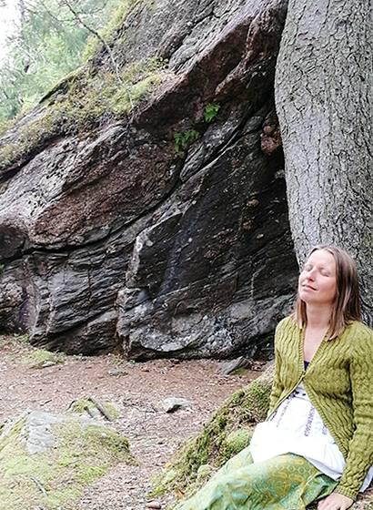 Skogsbada i Änggårdber